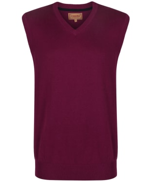 Men's Schoffel Cotton Cashmere Sleeveless V-Neck Sweater - Plum