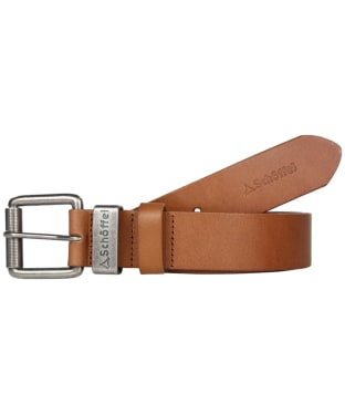 Men's Schoffel Leather Belt - Tan