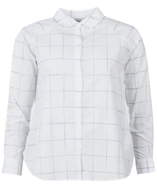 Women's Barbour Abstract Check Shirt - White Check