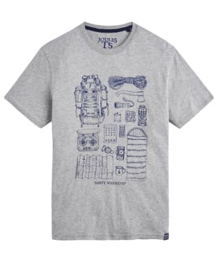 Men's Joules Graphic Print Tee - Grey Marl