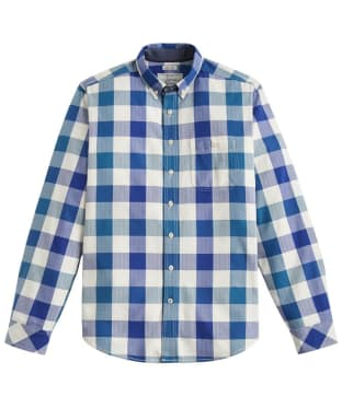 Men's Joules Hewitt Slim Fit Shirt - Blue Teal Gingham