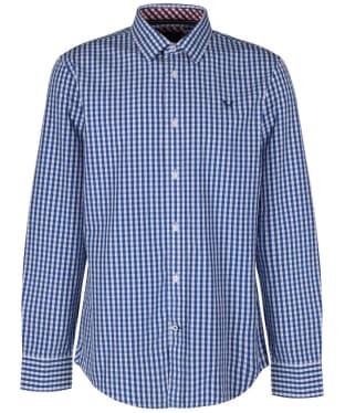 Men's Crew Clothing Classic Gingham Shirt - Ultra Marine