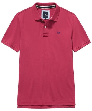 Men's Crew Clothing Classic Pique Polo Shirt - Washed Cherry
