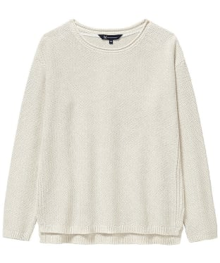 Women's Crew Clothing Moss Stitch Textured Jumper - Latte Marl