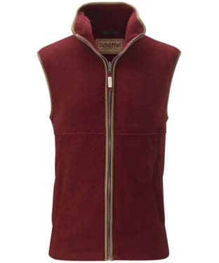 Men's Schoffel Oakham Fleece Gilet - Burgundy