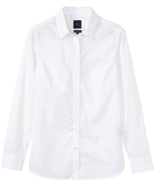 Women's Crew Clothing Hallsands Classic Poplin Shirt - White Linen Spot