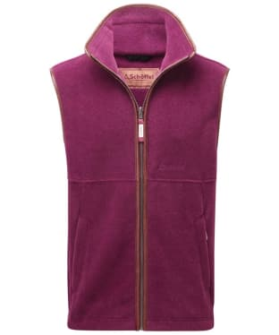 Men's Schoffel Oakham Fleece Gilet - Plum