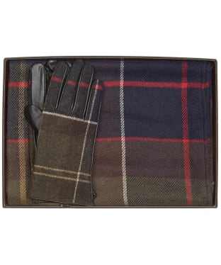 Women's Barbour Tartan Scarf and Glove Gift Set