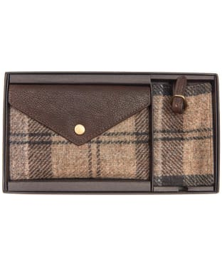 Women's Barbour Wool Tartan Travel Set