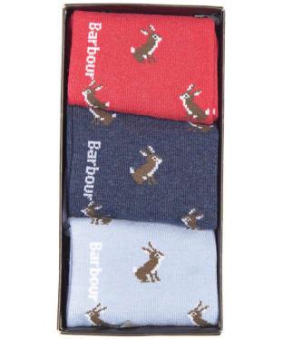 Women's Barbour Rabbit Motif Sock Gift Box