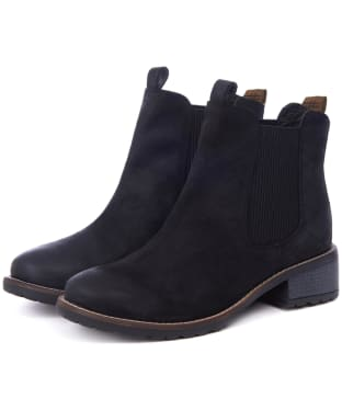 Women's Barbour Latimer Chelsea Boots - Black Waxy