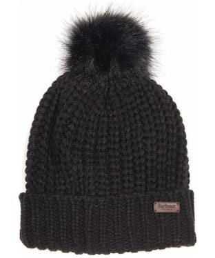 Women's Barbour Saltburn Bobble Hat - Black