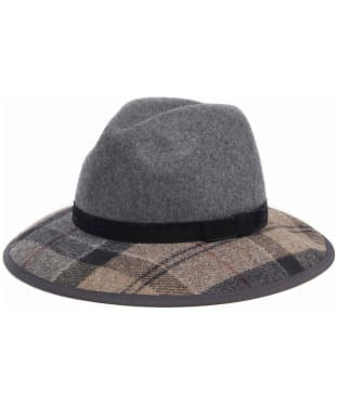 Women's Barbour Tornhill Fedora Hat - Grey / Winter