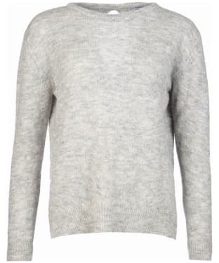 Women's Barbour Heritage Edith Crew Neck Sweater - Light Grey Marl