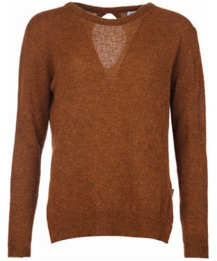 Women's Barbour Heritage Edith Crew Neck Sweater - Cinnamon