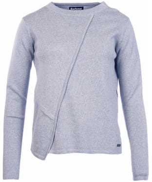Women's Barbour International Cadwell Knitted Sweater - Light Grey Marl