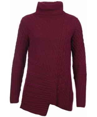 Women's Barbour International Mondello Roll Neck Sweater - Barolo