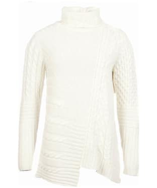 Women's Barbour International Mondello Roll Neck Sweater - Cloud