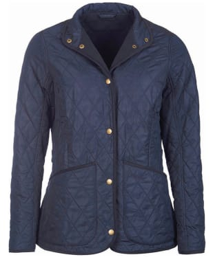 Women's Barbour Combe Polarquilt Jacket - Navy