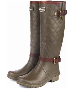 Women's Barbour Lindisfarne Wellingtons - Olive