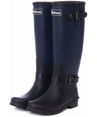 Women's Barbour Cleveland Wellingtons - Black / Navy