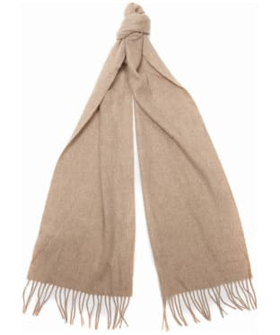 Women's Barbour Lambswool Woven Scarf - Oatmeal