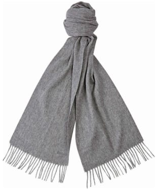 Women's Barbour Lambswool Woven Scarf - Mid Grey