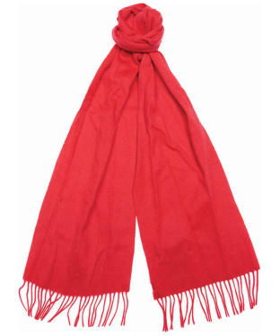 Women's Barbour Lambswool Woven Scarf - Coastal Red