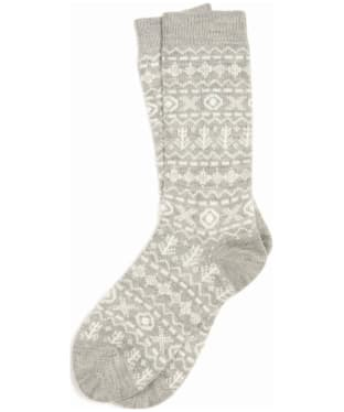 Women's Barbour Newton Fairisle Sock - Grey