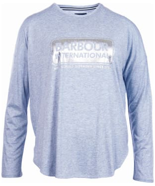 Women's Barbour International Mallory Tee - Light Grey Marl