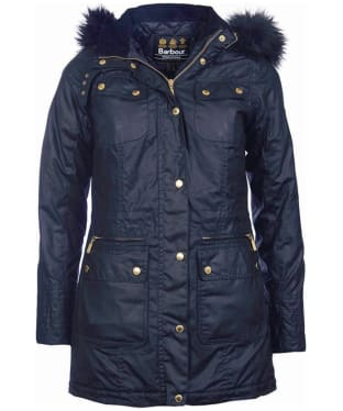 Women's Barbour International Mallory Wax Parka
