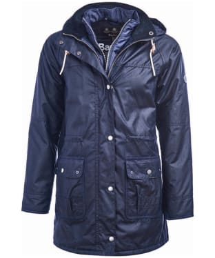 Women's Barbour Seaton Waxed Jacket - Royal Navy