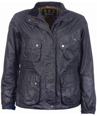 Women's Barbour x Brompton Bromley Wax Jacket - Navy