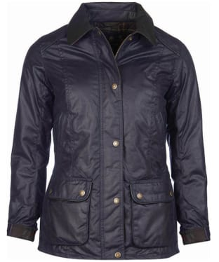 Women's Barbour Castlebay x Sam Heughan Waxed Jacket - Navy