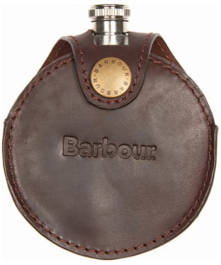 Men's Barbour Round Hip Flask - Brown