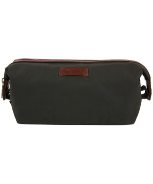 Men's Barbour Drywax Convertible Wash Bag - Olive