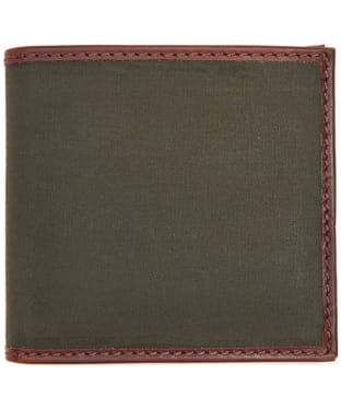 Men's Barbour Drywax Billfold Wallet - Olive
