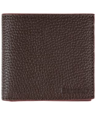 Men's Barbour Leather Billfold Wallet - Dark Brown