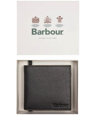 Men's Barbour Grain Leather Wallet - Black