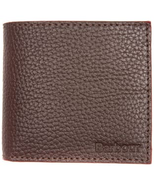 Men's Barbour Grain Leather Wallet - Dark Brown