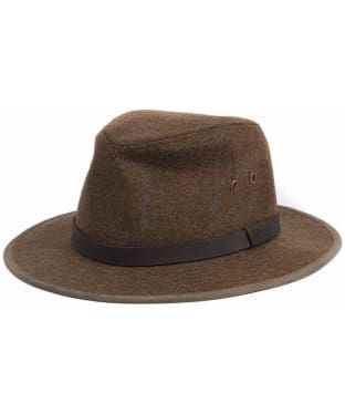 Men's Barbour Country Tweed Bushman Hat - Olive / Blue / Red