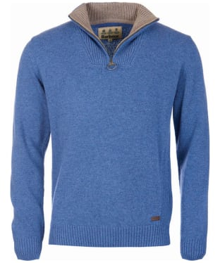 Men's Barbour Nelson Half Zip Sweater - Chambray