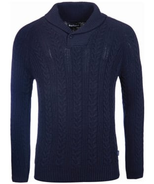 Men's Barbour Galloway Cable Shawl Sweater