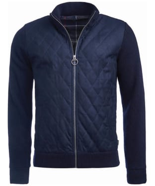Men's Barbour Culzean Zip Through Sweater - Navy