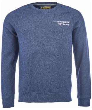 Men's Barbour Steve McQueen Issue Crew Neck Sweater - Navy