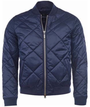 Men's Barbour Steve McQueen Bomber Quilt - Navy