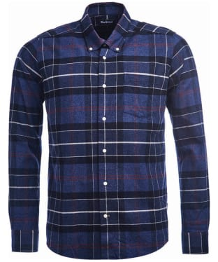 Men's Barbour Lustleigh Shirt - Navy Marl Tartan