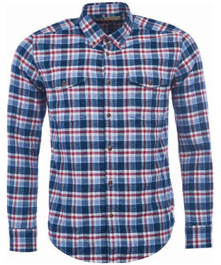 Men's Barbour Steve McQueen Beach Grove Shirt - Navy Check