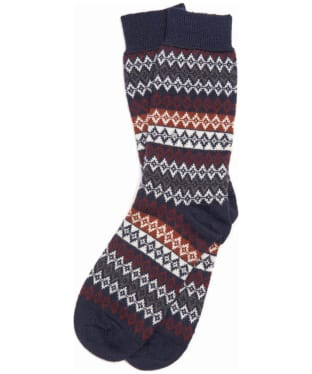 Men's Barbour Duxbury Fairisle Socks - Navy