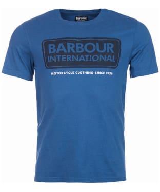 Men's Barbour International Logo Tee - Mid Blue